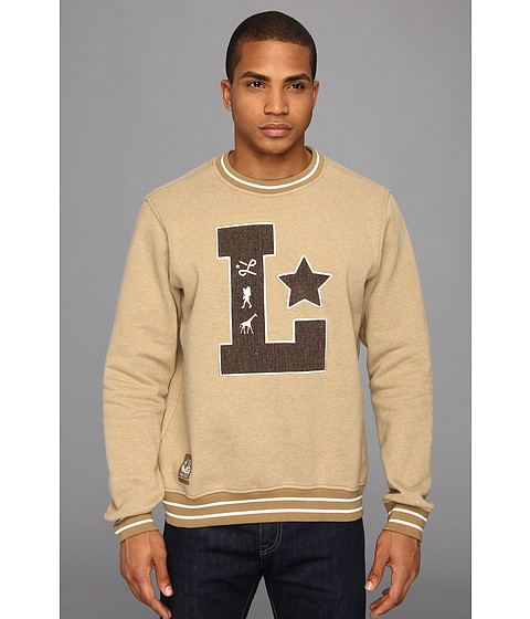 Bluze L-R-G - Big L Crewneck Sweatshirt - Dark Khaki Heather