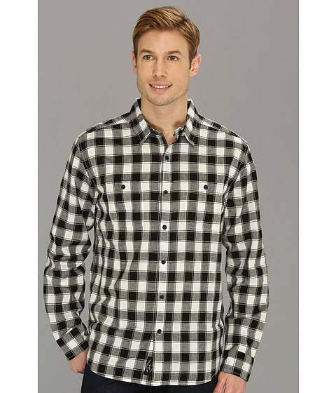 Camasi Lucky Brand - Barmouth Plaid Two-Pocket - Black/Natural