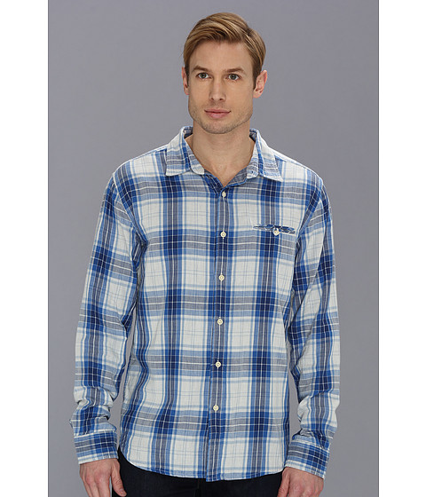 Camasi Lucky Brand - Somerset Plaid One-Pocket - Blue Multi