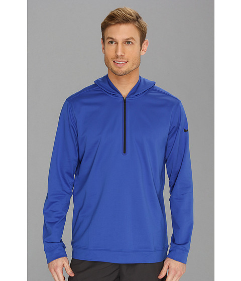 Bluze Nike - Nike Dri-FITÃ'® 1/2 Zip Hoodie - Game Royal/Black