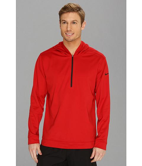 Bluze Nike - Nike Dri-FITÃ'® 1/2 Zip Hoodie - Gym Red/Black