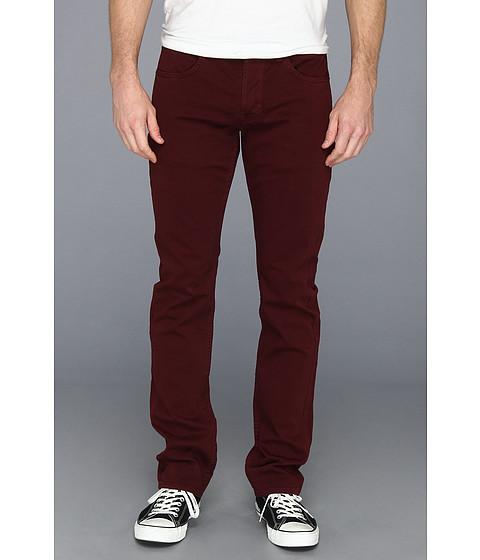 Blugi Hudson - Byron Straight Leg in Over-Dye Colors - Dark Burgundy