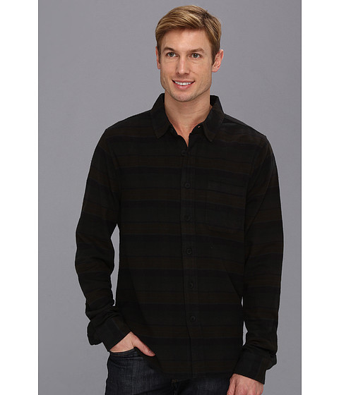 Camasi Joes Jeans - Relaxed Single Pocket Woven Overdyed Plaid - Black