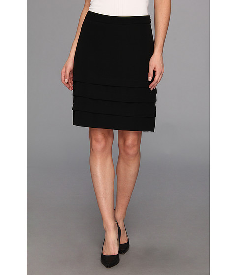 Fuste Nine West - Crepe Tiered Skirt - Black