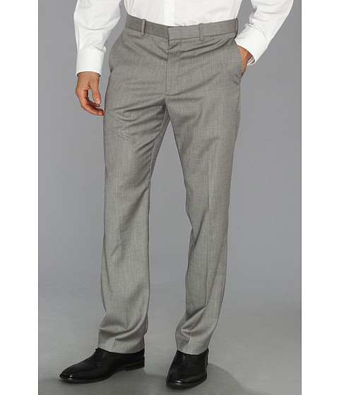 Pantaloni Perry Ellis - Textured Suit Pant - Brushed Nickel