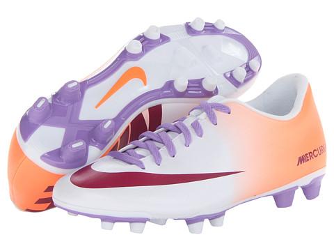 Adidasi Nike - Mercurial Vortex FG - White/Atomic Orange/Atomic Violet/Bright Magenta