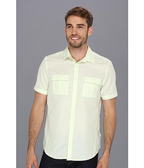 Camasi Calvin Klein - YD Cotton Linen Chambray Slub Shirt - Butterfly