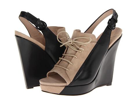 Pantofi Derek Lam - Gi - Tan Suede/Black Eco Leather