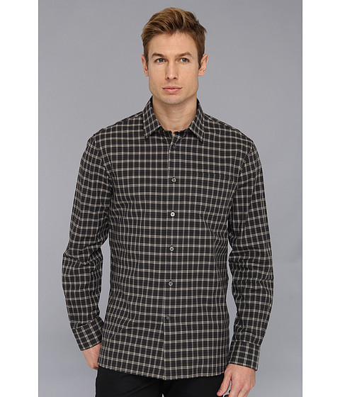 Camasi John Varvatos - Slim Fit Graphite Check Sport Shirt - Graphite