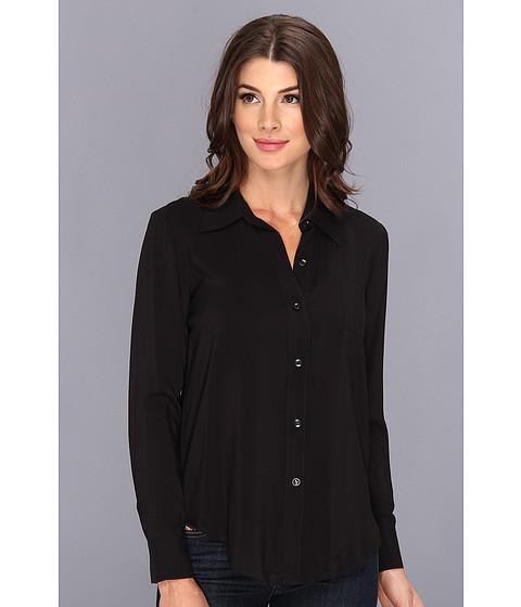 Bluze BCBGeneration - Back Slit Button Top TNW1L236 - Black
