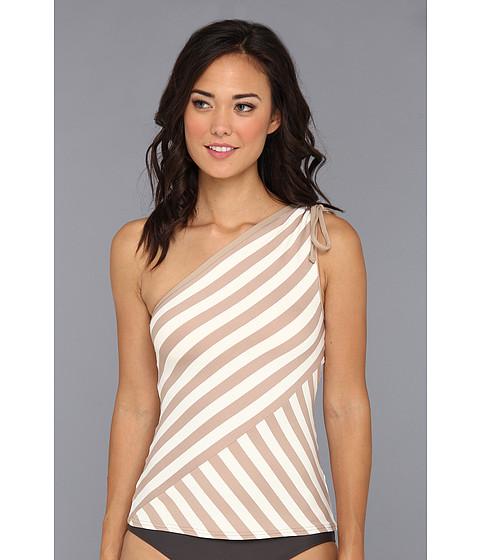 Costume de baie DKNY - Chic Stripe Spliced One Shoulder Tankini - Bare