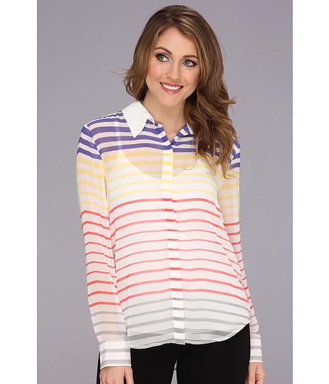 Bluze Vince Camuto - L/S Button Front Step Stripe Blouse - Light Cream