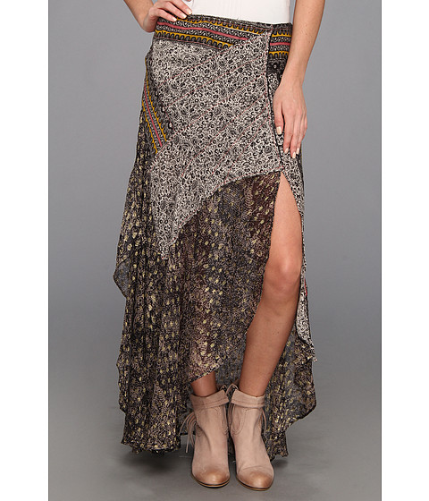 Fuste Free People - North Country Printed Skirt - Black Combo