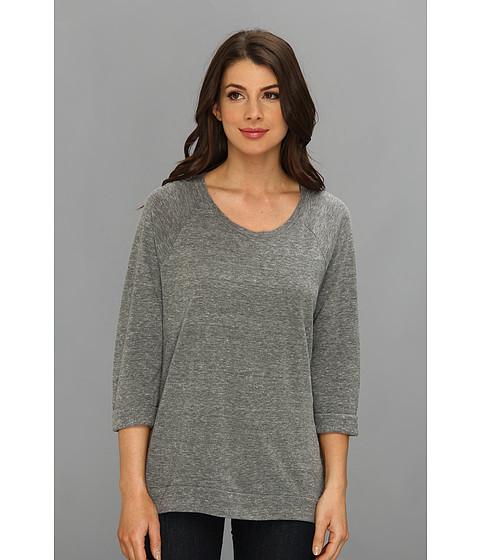 Bluze C&C California - Solid Triblend Raglan Sweatshirt - Heather Grey