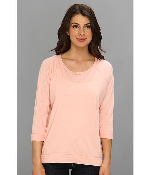 Bluze C&C California - Solid Triblend Raglan Sweatshirt - Peach Bud