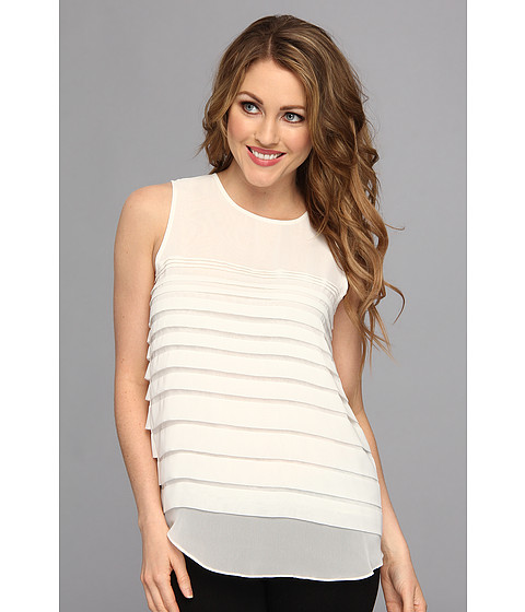Bluze Vince Camuto - S/L Falling Tiered Top - New Ivory