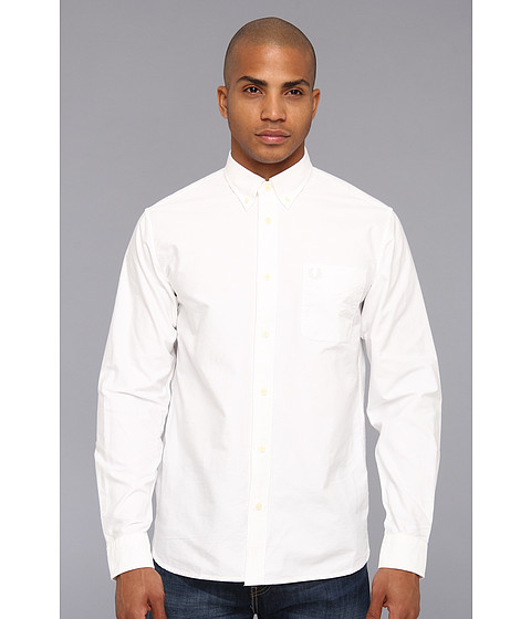 Camasi Fred Perry - Classic Oxford L/S Shirt - White