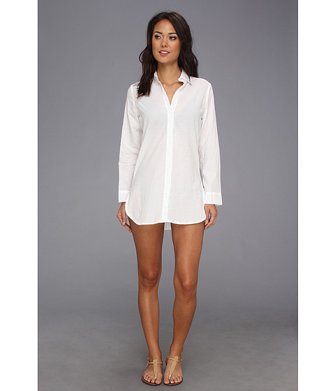 Lenjerie Tommy Bahama - Crinkle Cotton Boyfriend Shirt - White