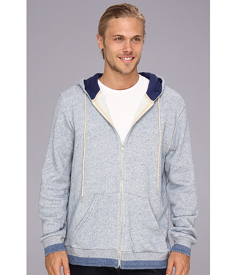 Bluze Alternative Apparel - Lightweight French Terry Sly Zip Hoodie - Peru Blue