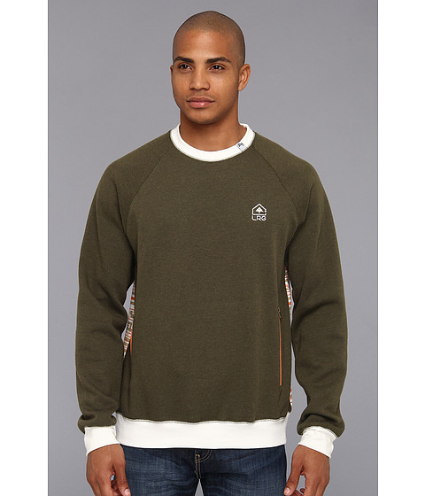 Bluze L-R-G - Maxim Gunner Sweatshirt - Dark Olive Heather