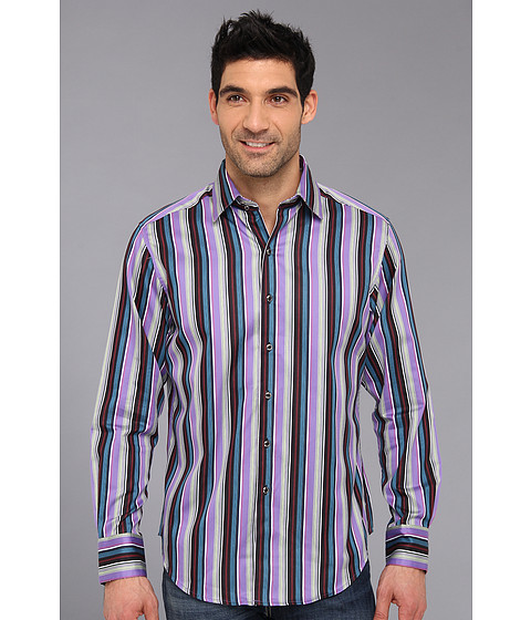 Camasi Robert Graham - Schoolhouse L/S Woven Shirt - Purple