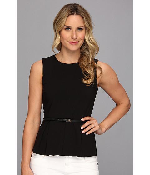 Bluze Calvin Klein - Belted Peplum Top - Black