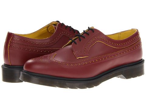 Pantofi Dr. Martens - 3989 Brogue Shoe - Cherry Red/Yellow Smooth Slice