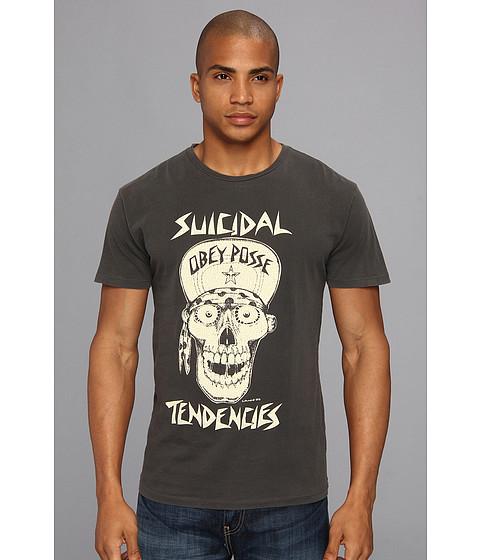 Bluze Obey - OBEY x Suicidal Tendencies Flip Cap Skull Lightweight Pigment Tee - Black