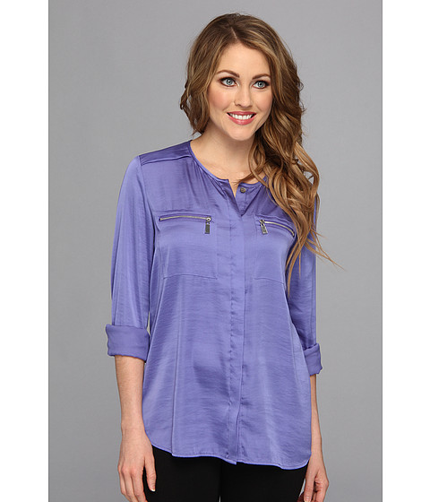 Bluze Vince Camuto - L/S Zip Pocket Blouse - Deep Freesia