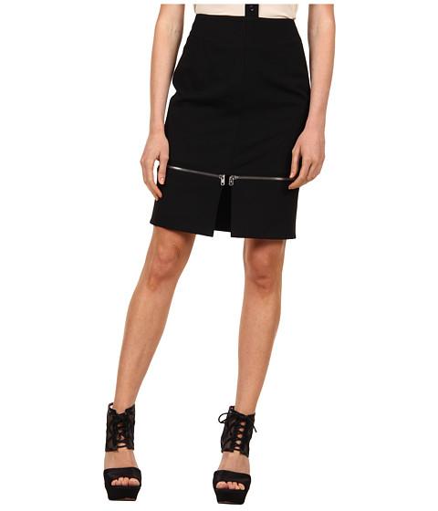 Fuste McQ - Front Zippy Skirt - Black