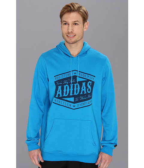Bluze adidas - From Thy Hills Pullover Hoodie - Solar Blue/Uniform Blue