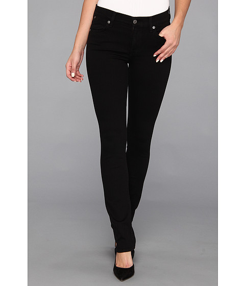 Blugi 7 For All Mankind - The Modern Straight in Clean Black - Clean Black
