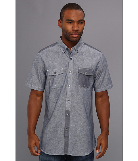 Camasi ECKO - Pieced Chambray S/S Woven - Blue Chambray