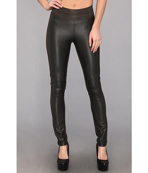 Pantaloni Paige - Paloma Paneled Legging Ponte & Vegan Leather in Pebble Grey - Pebble Grey