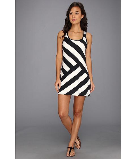 Costume de baie DKNY - Chic Stripe Spliced Tank Cover-Up - Black