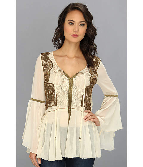 Bluze Free People - Golden Moments Tunic - Tea