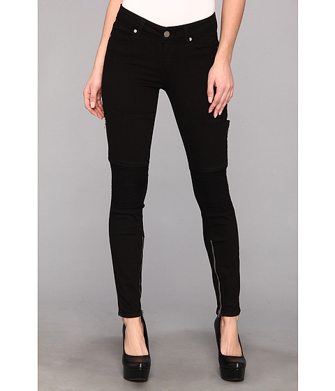 Blugi Paige - Demi Ultra Skinny in Black - Black