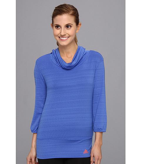Bluze adidas - Twist Three-Quarter Top - Vivid Blue/Bahia Coral