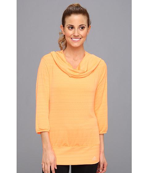 Bluze adidas - Twist Three-Quarter Top - Glow Orange/Glow Coral