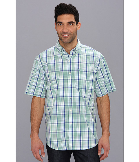 Camasi IZOD - Short Sleeve Yacht Club Plaid Woven - Malachite