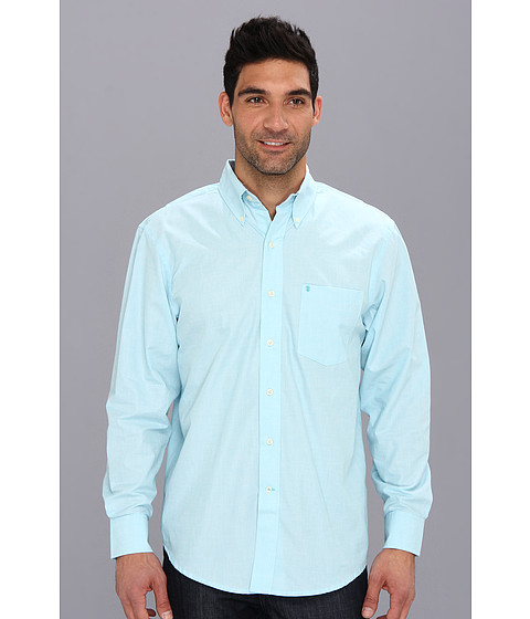 Camasi IZOD - Long Sleeve Solid Essential Woven - Maui Blue