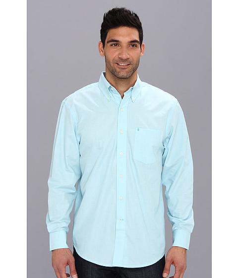 Camasi IZOD - Long Sleeve Solid Essential Woven - Maui Blue