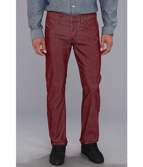Blugi Hudson - Byron Five-Pocket Straight in Cardinal Red - Cardinal Red
