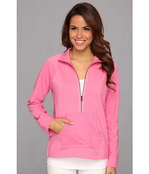 Bluze Caribbean Joe - Mock Neck 1/2 Zip w/ Pockets - Tickled Pink