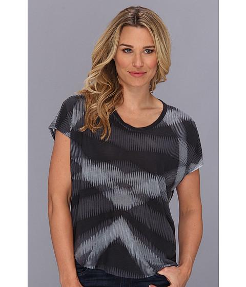 Bluze Calvin Klein - Printed U Neck Tee - Charcoal Grey
