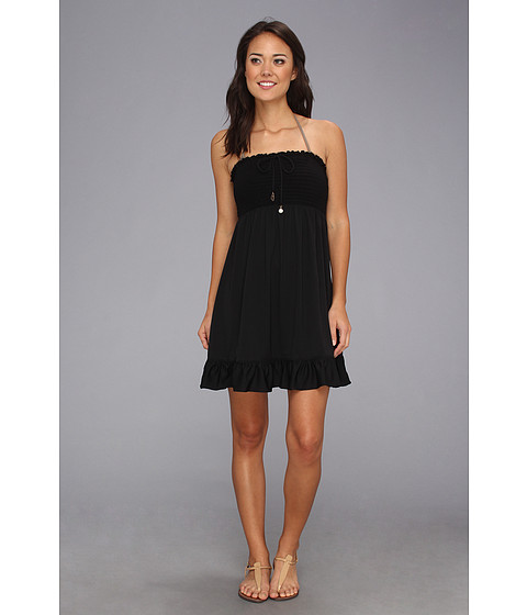 Lenjerie Juicy Couture - Bow Chic Smoked Cover-Up Dress - Black