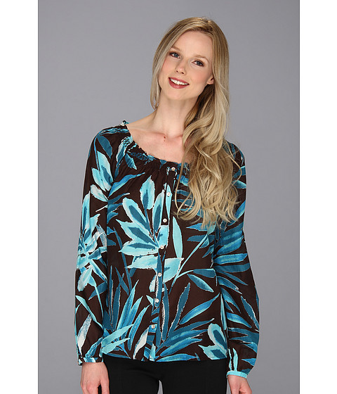 Bluze Tommy Bahama - Watercolor Palmettos Top - Brazil Nut