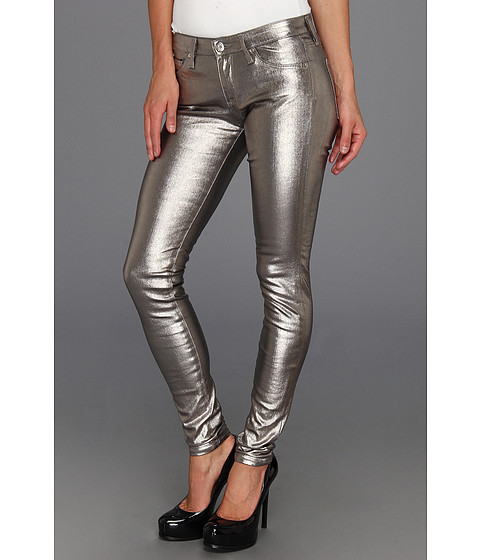 Blugi AG Adriano Goldschmied - The Absolute Legging in Metallic Silver - Metallic Silver