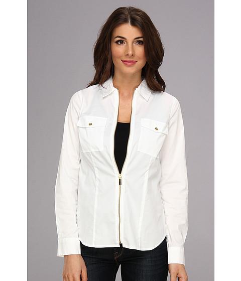 Bluze MICHAEL Michael Kors - L/S Zip Front Shirt MH34J637R4 - White