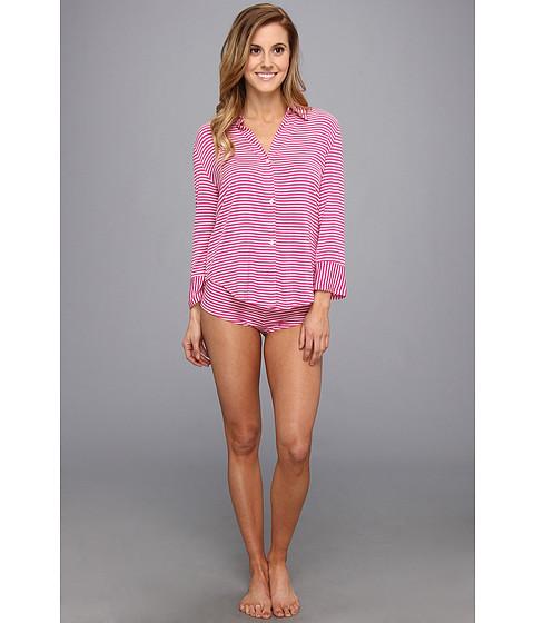 Lenjerie Betsey Johnson - Stripe Rayon Knit Hipster Set - Think Pink/Pearl